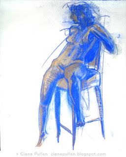 Woman on a Chair, figure drawing by Ciana Pullen