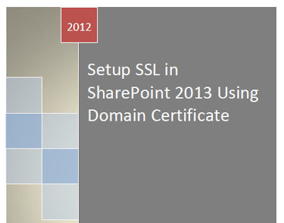 SSL Termination SharePoint 2013
