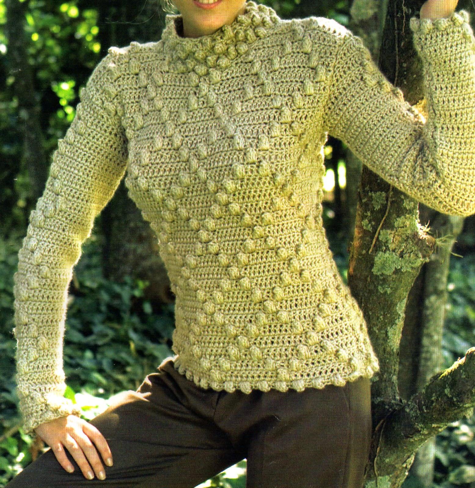 tejidos artesanales en crochet: exclusivo sueter pull tejido en crochet