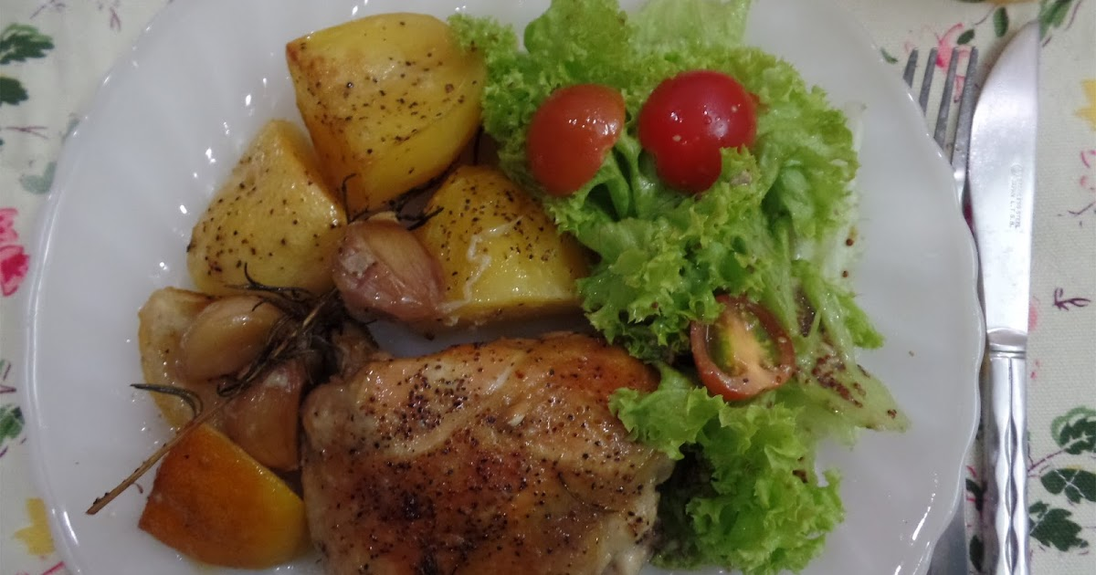 kitchen flavours: Slow-Roasted Garlic and Lemon Chicken