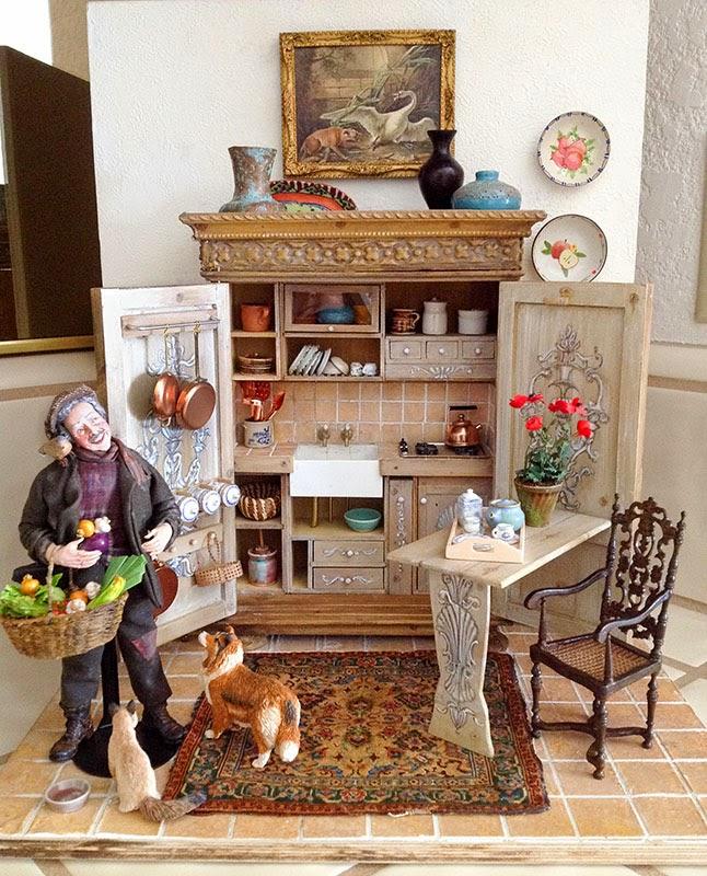 Good Sam Showcase of Miniatures Exhibit Kitchen