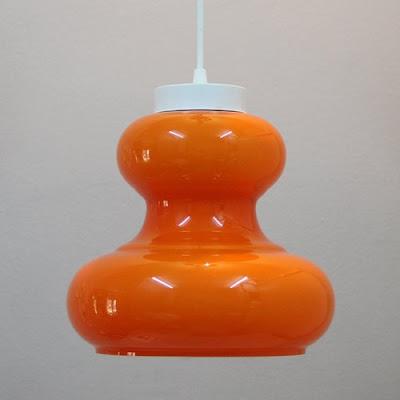 lámpara vintage naranja