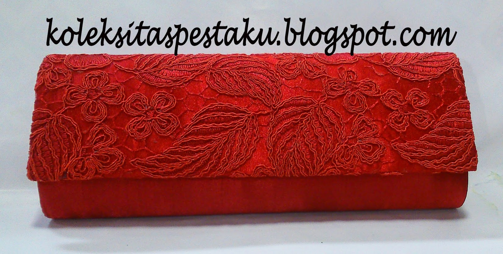 tas pesta cantik mewah merah elegant cantik