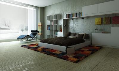 diseño de dormitorio elegante moderno