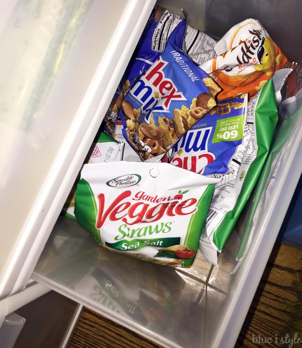 Pantry drawer organization