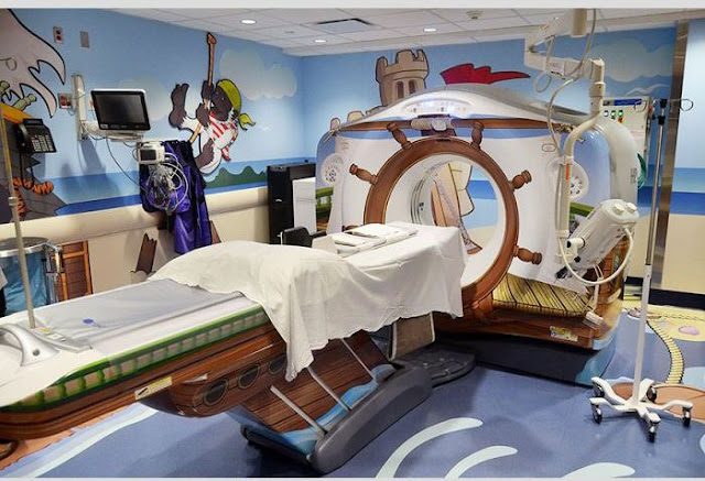 Pirate Themed CT Scanner in Children's Hospital