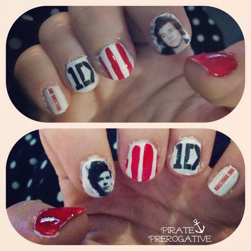 One Direction Nail Art, totally doable for newbie nail artists.