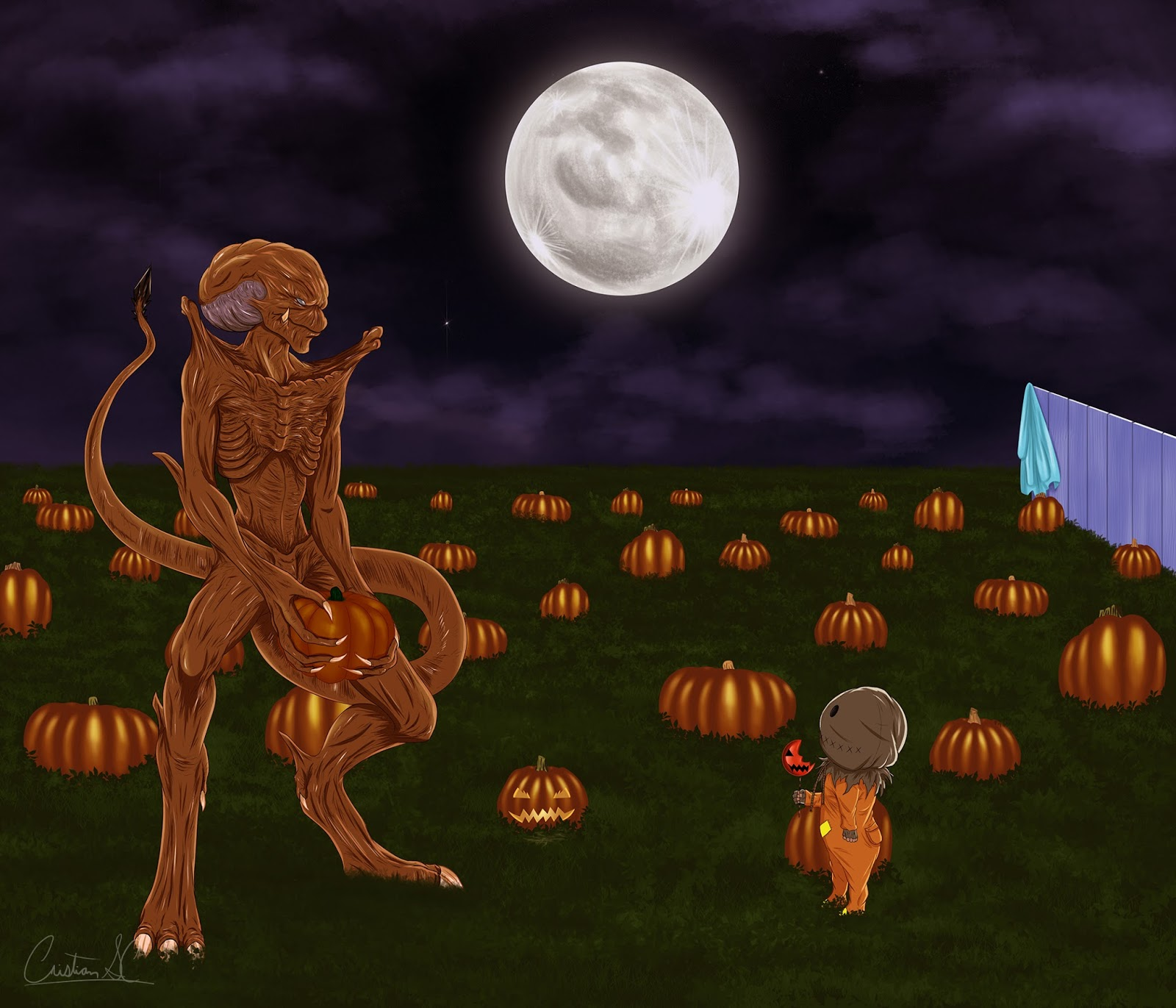 The Horrors of Halloween: Halloween Art: Creature Double Feature