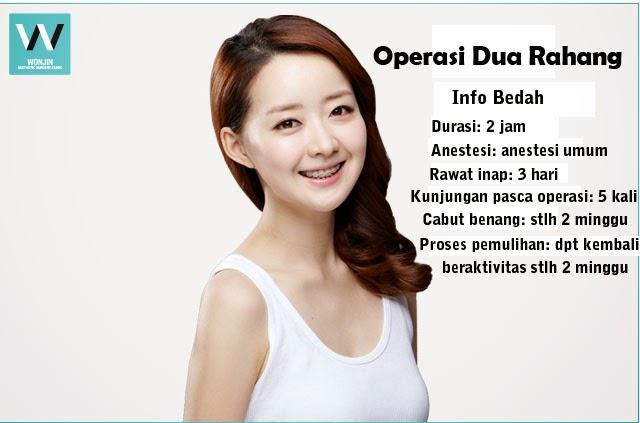 operasi dua rahang di klinik bedah plastik wonjin seoul