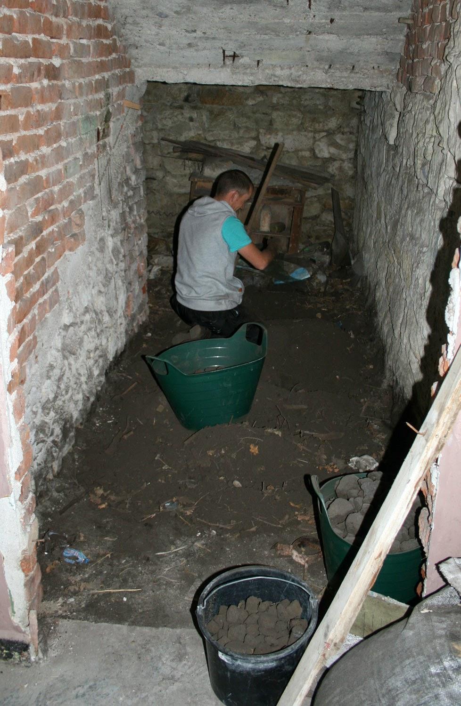 In the coal bunker