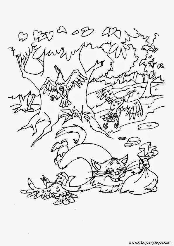 Cuentos infantiles: Dibujos para colorear del Gato con Botas. Cuento ...