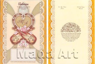 Kartu undangan pernikahan - Neo 021
