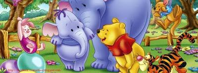 Couverture facebook personnalisée winnie the pooh