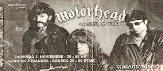 entrada de concierto de motorhead