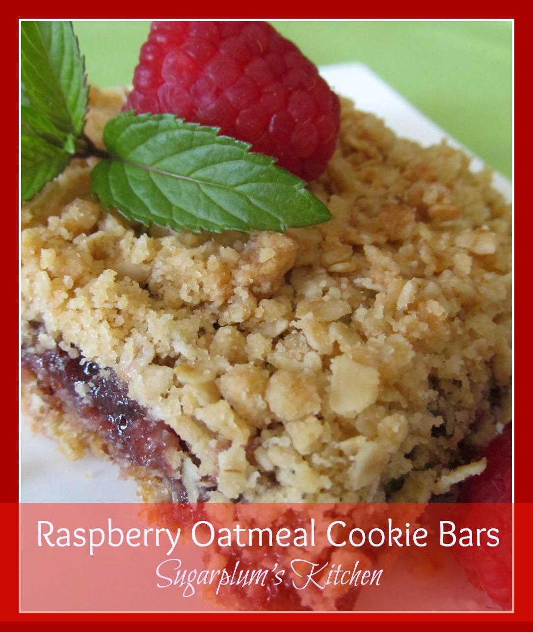 Sugarplum's Kitchen: Raspberry Oatmeal Cookie Bars