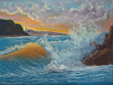Learn How To Paint the ocean with Sharon