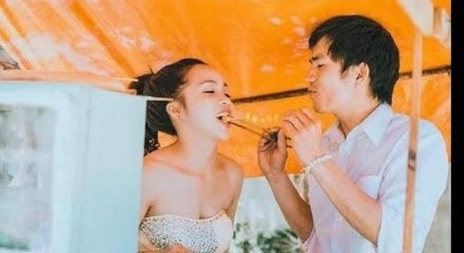 Ảnh cưới giản dị của cô gái Gia Lai bán hàng rong và chàng kiểm lâm Đà Lạt khiến người xem xúc động