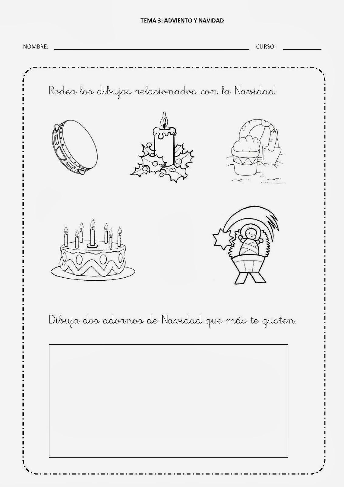 Dibujos De Adviento Y Navidad Para Colorear Aula De Reli ...