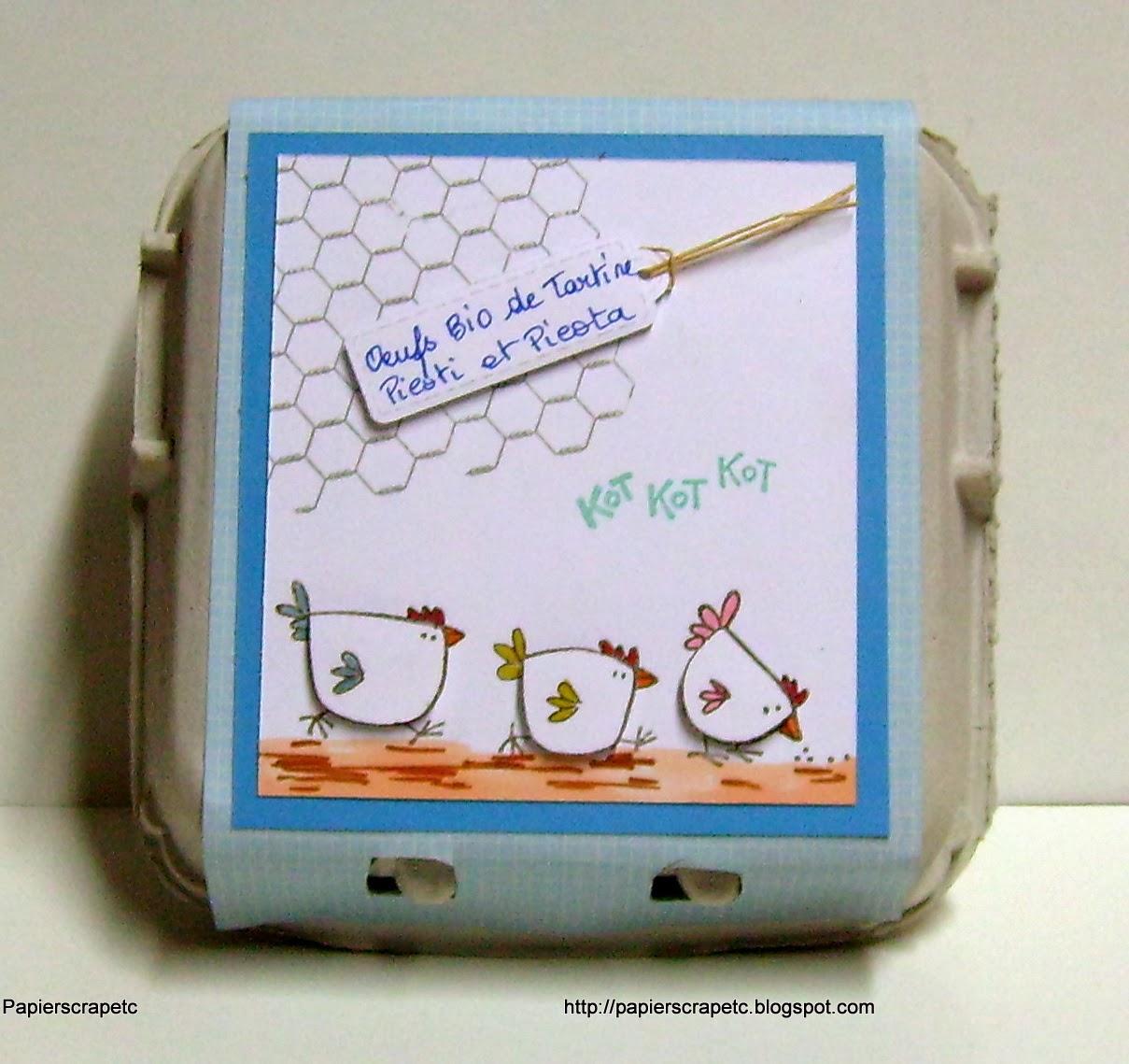 Papierscrapetc une bo te ufs d cor e pour les ufs bio - Decoration boite oeuf ...