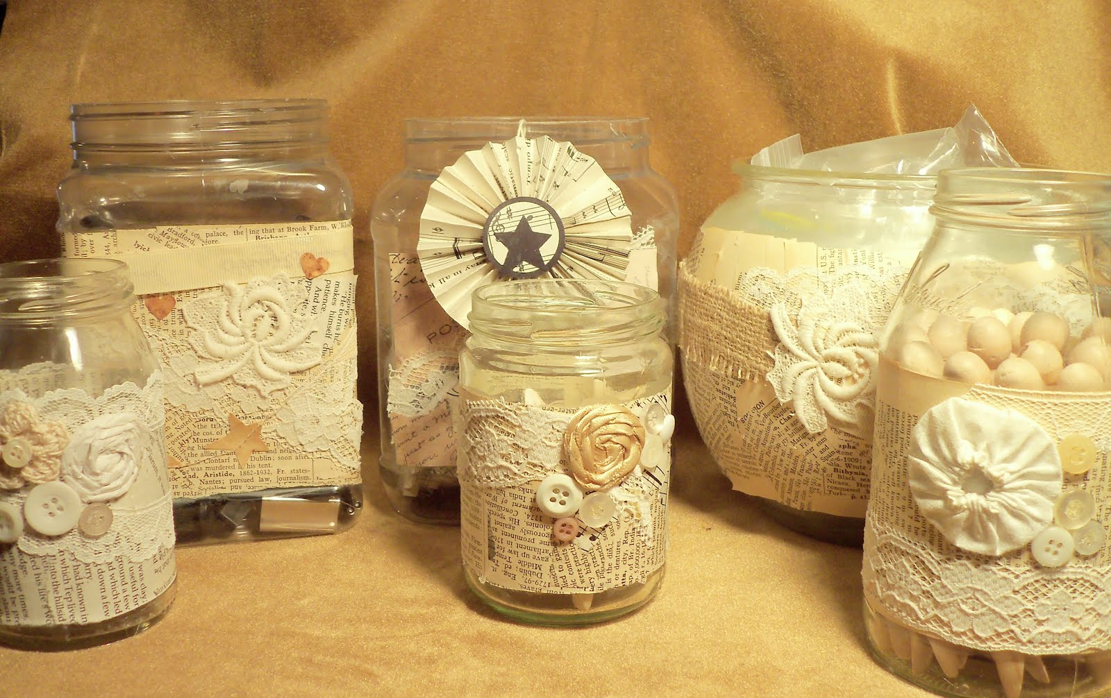 Make the best of things book page projects for my craft room for Crafts to make with glass jars