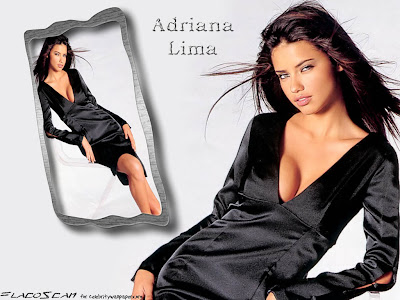 Adriana Lima in Black