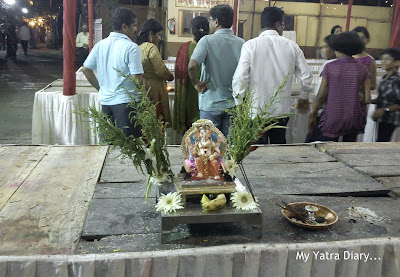 Lord Ganesha idol in a Mumbai temple before Ganpati Visarjan