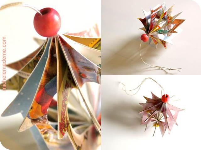 Домики-подвески из открыток Heart+House+Ornament+matrix