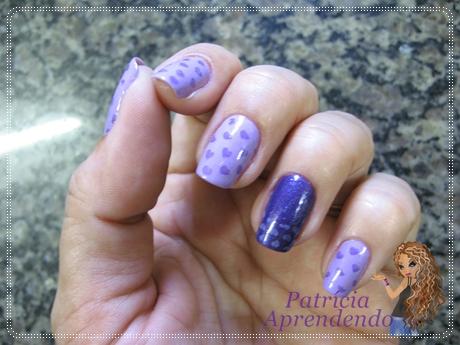 Esmaltes Derma Nail Fabulosa e Absoluta com carimbada Konad