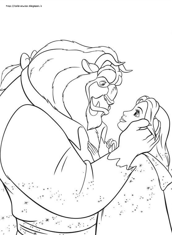 La bella e la bestia disegno da colorare n 4 for La bella e la bestia immagini da stampare
