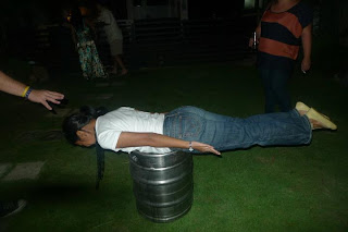 Planking on a Keg