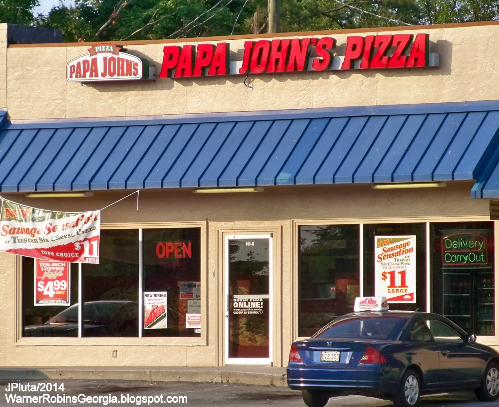 Papa John S Pizza Warner Robins Georgia Houston Lake Blvd Delivery Restaurant Ga County