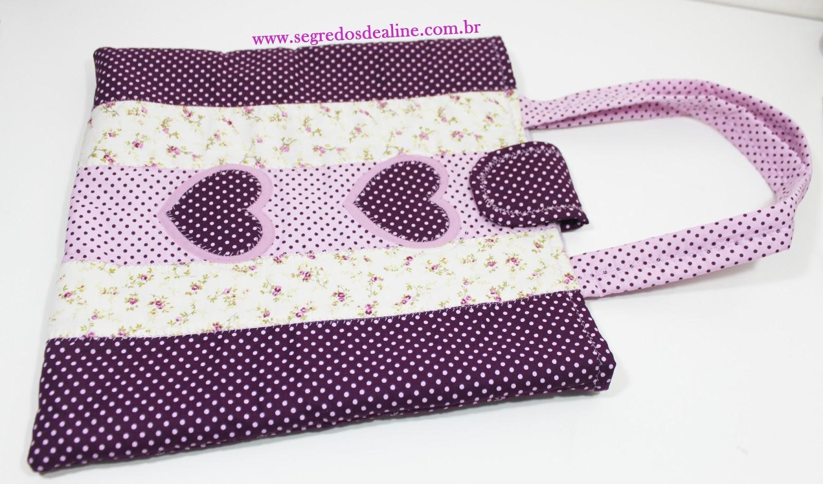 Bolsa Em Tecido Patchwork Passo A Passo : Segredos de aline bolsa tecido b?sica patchwork