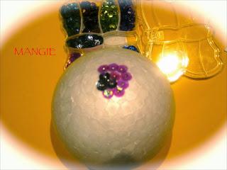 Disposición lentejuelas en la bola