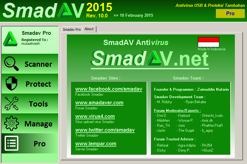 Download Smadav 10.0 Serial Key Terbaru 2015