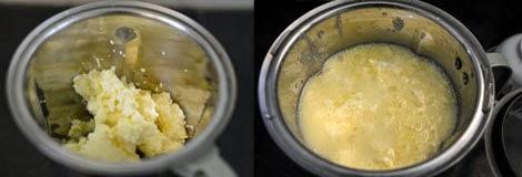making homemade butter