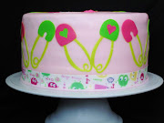 Girl Baby Shower Cake {Omaha Baby Shower Cakes} (girl baby shower ooga booga cake)