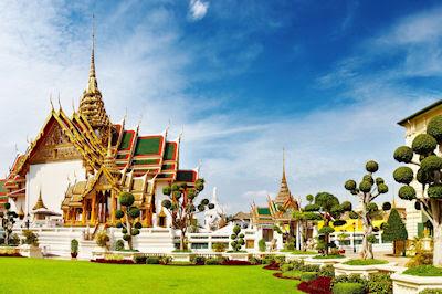 Arquitectura tradicional Thai - Grand Palacio en Bangkok