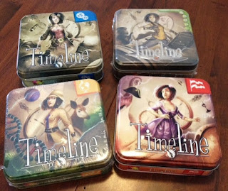 different Timeline games by Asmodee