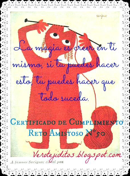 Certificado de cumplimiento reto nº 50