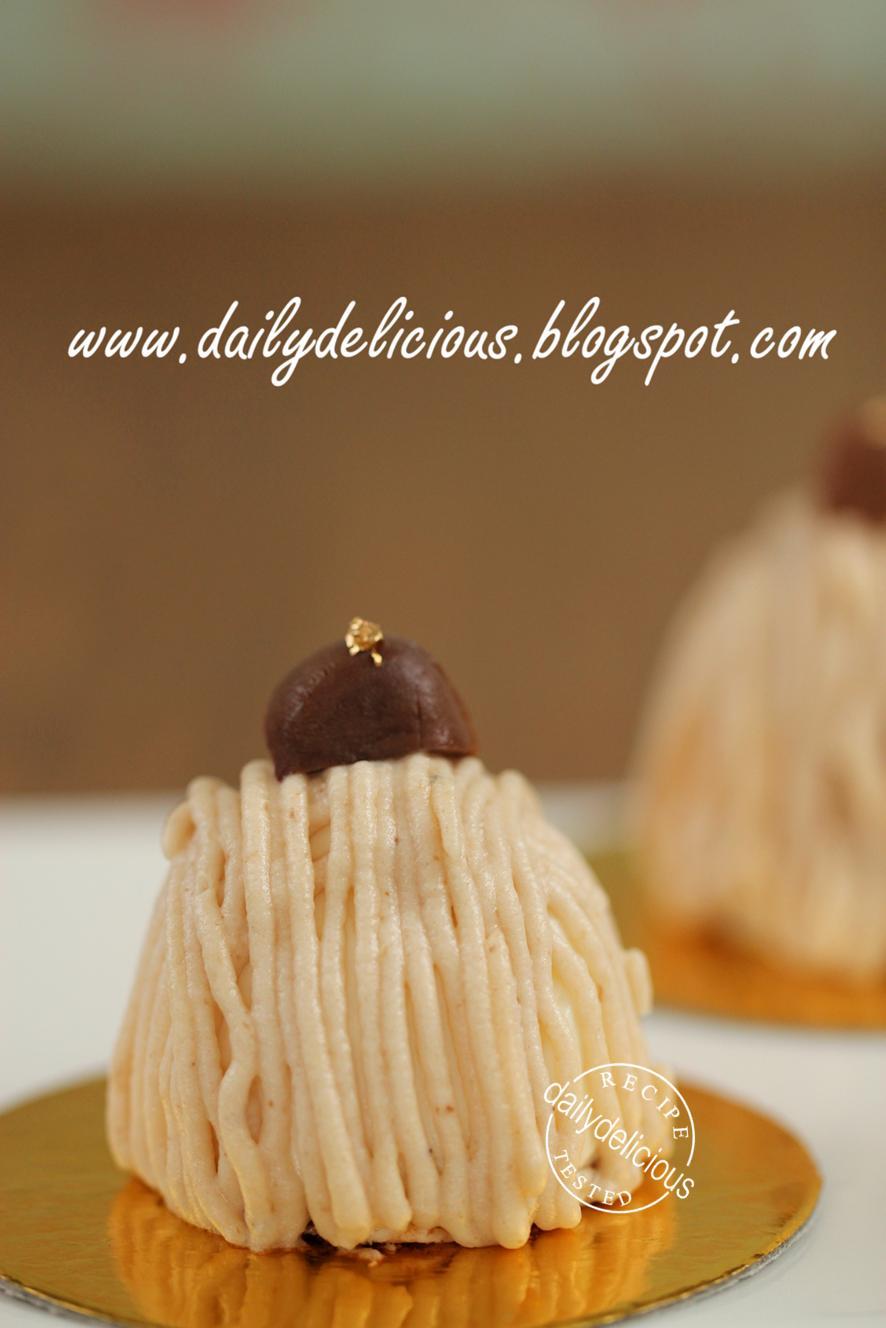 Chestnut mont blanc cake recipe