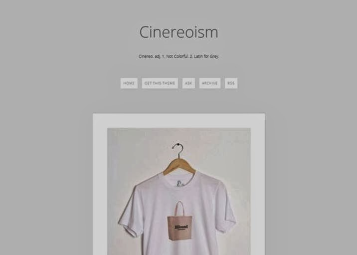 Cinereoism Free Tumblr Theme