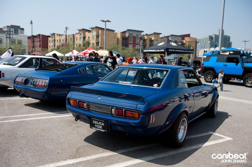 fajne sportowe samochody, japońskie, kultowe, Toyota Celica, fotki, RWD, niebieski, blue, liftback, coupe