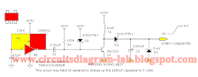 Simple Voltage Converter 0.5v to 6v Circuit Diagram