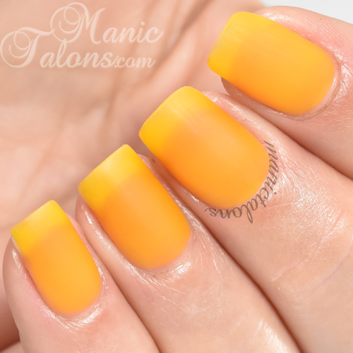 BMC Saffron Gold Matte Gel Polish Swatch