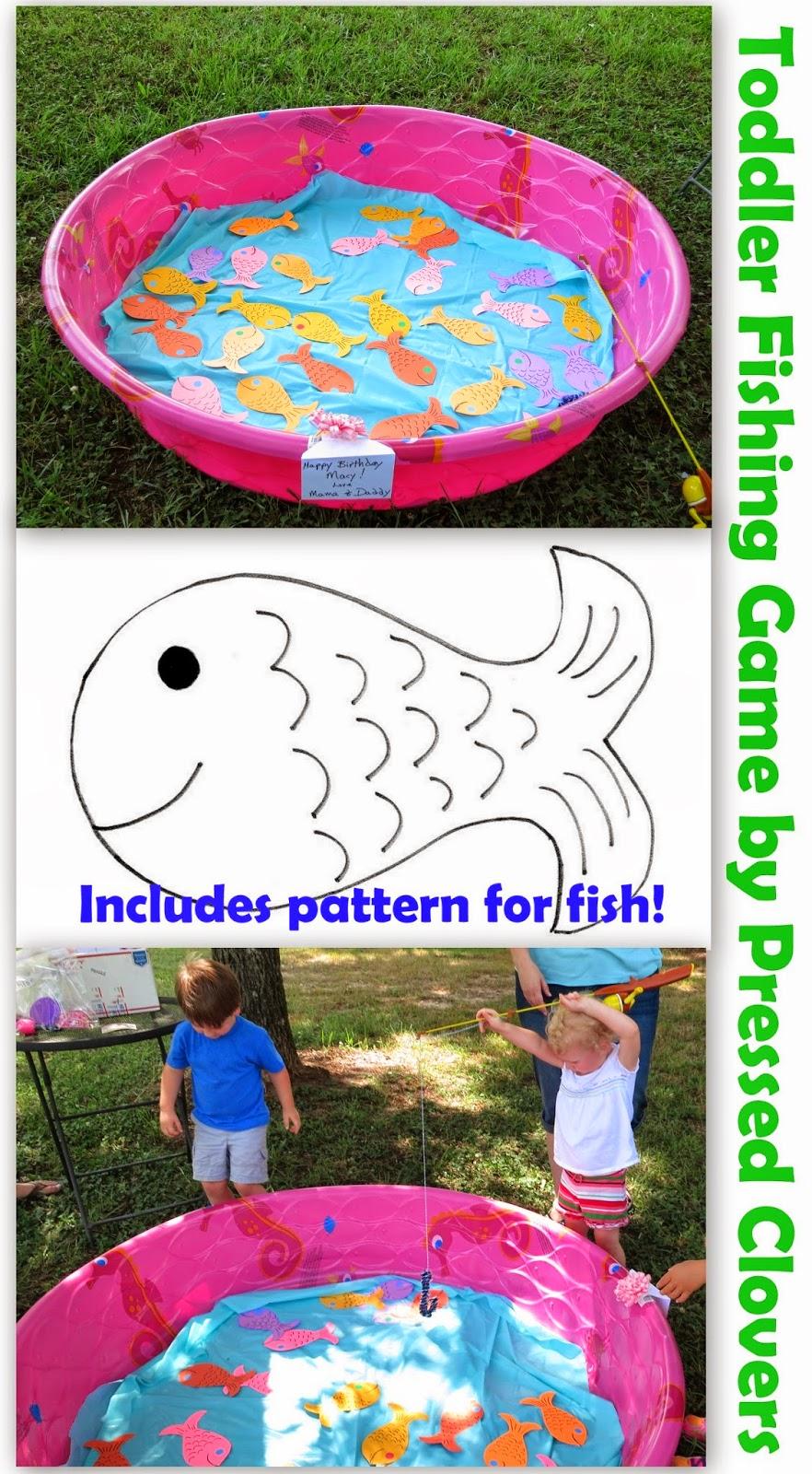 Pressed clovers tutorial toddler fishing game template for Toddler fishing game free