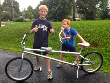 kids helped build the bike