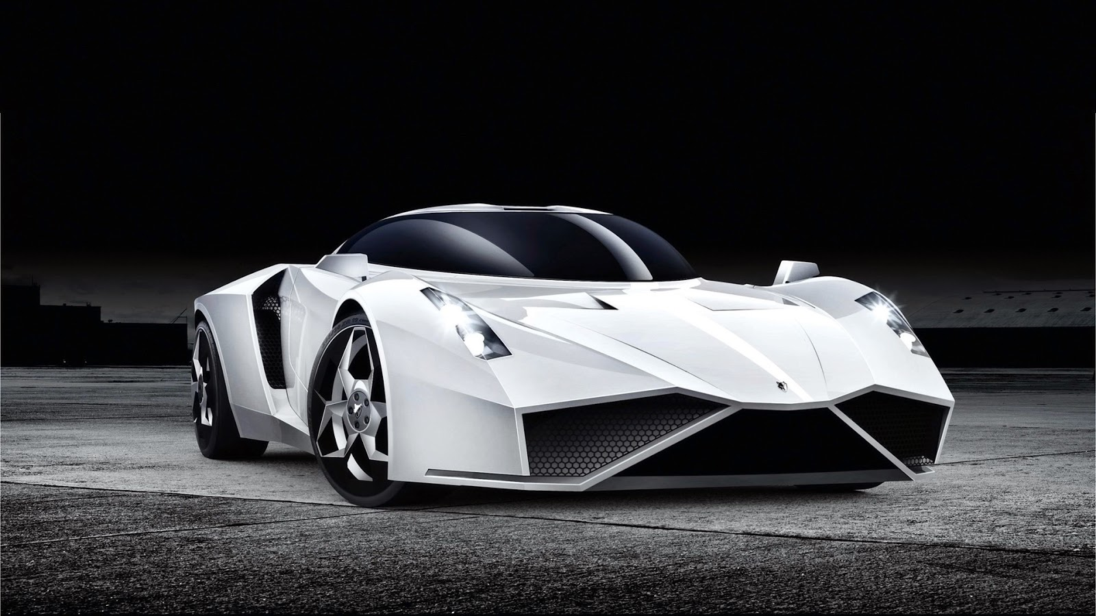 Wallpaper Super Car cool white color