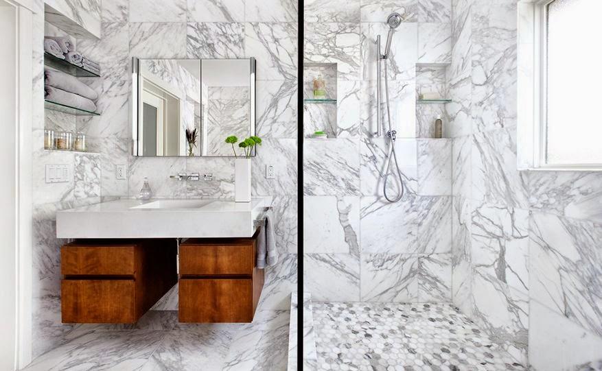Conseils d co et relooking salles de bain en marbre - Relooking salle de bain ...