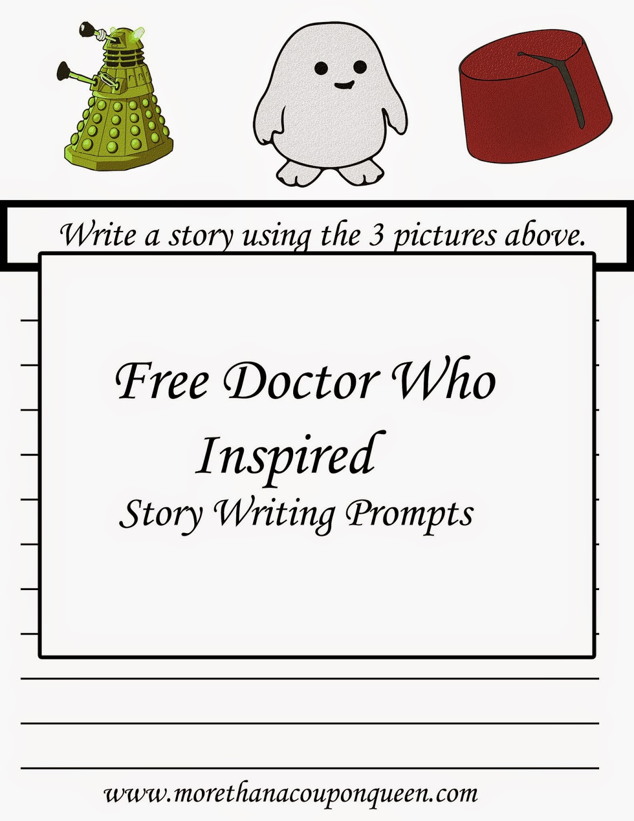 Free Doctor Who Inspired Story Prompts Printables