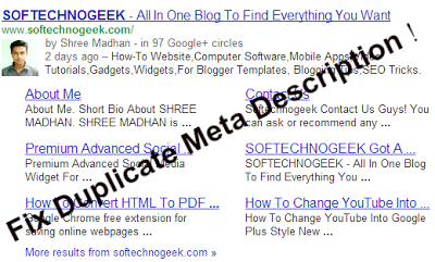 Blogger Fix Duplicate Meta Description Error in Posts and Homepage